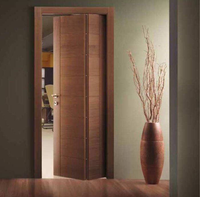 Crea spazio in piccoli ambienti con la porta a libro | Calestani