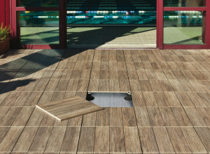 Woodays pavimento in ceramica come legno calestani - Piastrelle esterno finto legno ...