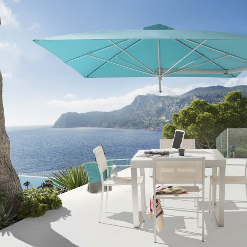 Ombrellone paraflex a muro di umbrosa con copertura for Svendita mobili da giardino