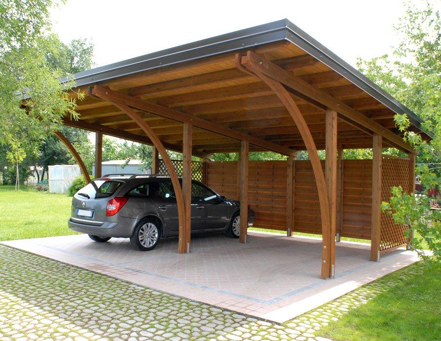 Autocover pircher in legno lamellare e perlinato for Carport 2 posti