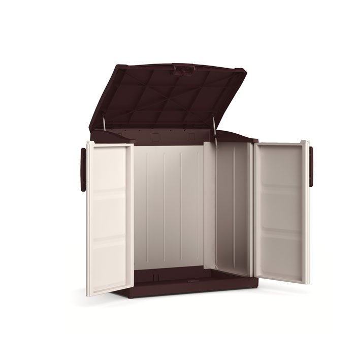 Armadio da esterno compact store in resina da calestani a - Armadietto legno per esterno ...