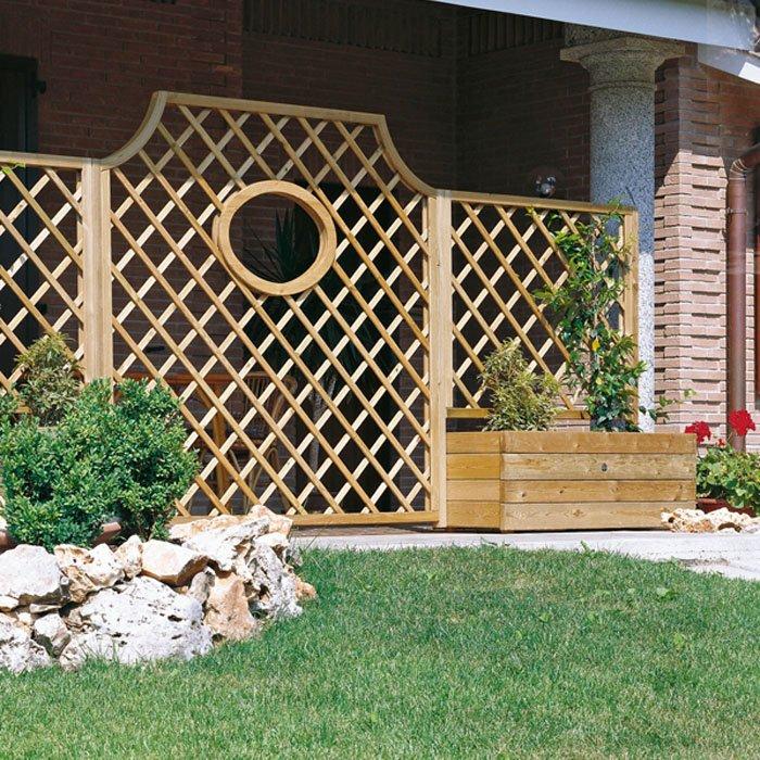 Grigliato in legno a rombi calestani - Grigliati da giardino ...