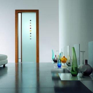 Porta a vetri con gemme di Murano porte scorrevoli parma