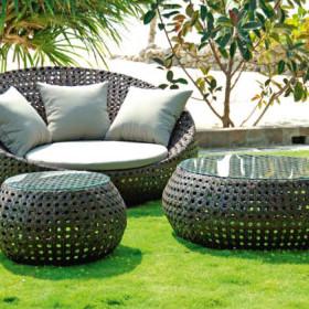 Poltrona Montecarlo tavoli e sedie fibra intrecciata parma
