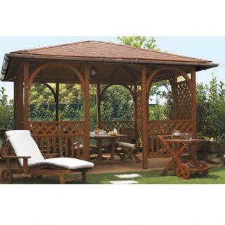 Gazebo con tetto in legno gazebo parma