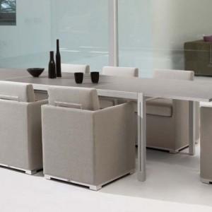 Tavolo in vetro modello Luna tavoli e sedie alluminio parma