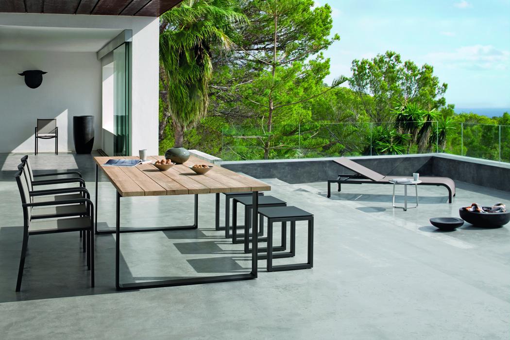 Tavolo in alluminio e teak tavoli e sedie alluminio parma
