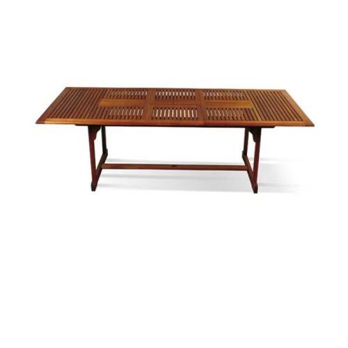 Tavolo haans in legno eucalyptus tinto mogano allungabile for Vendita arredi da giardino
