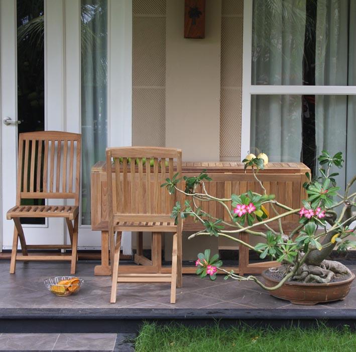 Tavolo shelly in legno di teak ripieghevole da calestani a - Mobili da giardino in teak ...