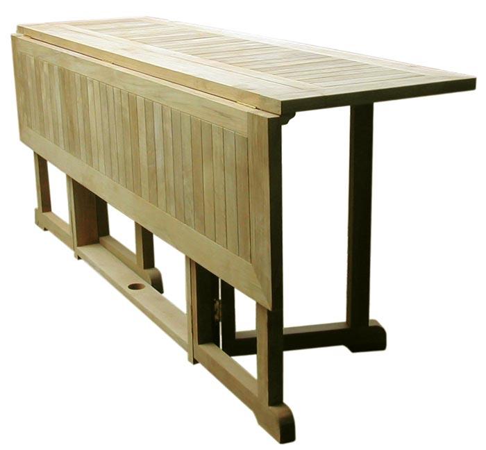 Tavolo shelly in legno di teak ripieghevole da calestani a for Tavoli e sedie da giardino usati