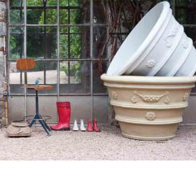 Vasi decorati Serralunga vasi e fioriere parma