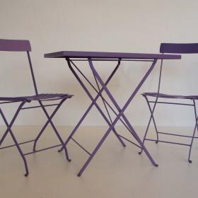 Tavolo e sedie lilla Vermobil shop online arredi giardino