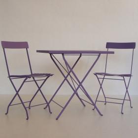 Tavolo e sedie lilla shop online arredi giardino