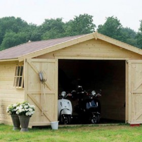 Garage in legno