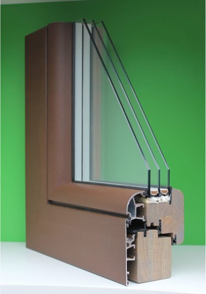 sezione finestra legno alluminio