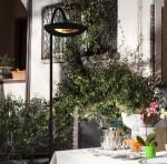 Lampada riscaldante con piantana