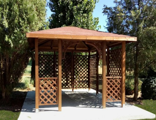 Pavillon con grigliati