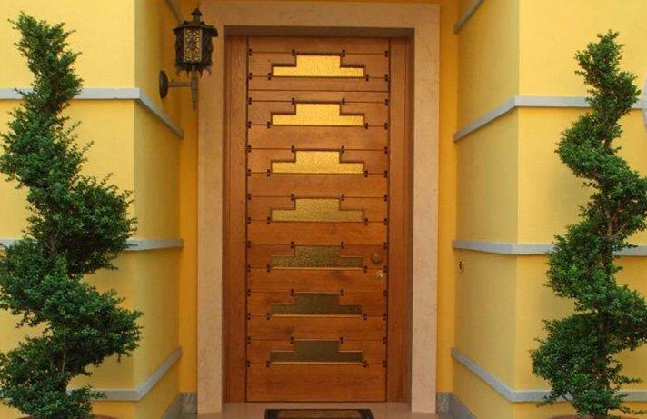 Porta d'ingresso in legno rovere