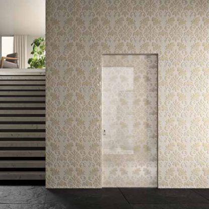 Porta a vetri decoro arabesco serie Plaster