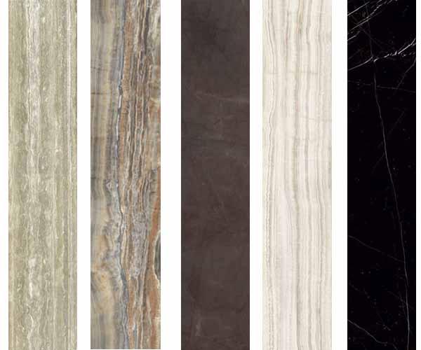 Porte a vetro decorate effetto marmo